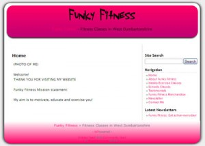 Funky Fitness website thumbnail