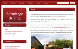 Hermitage Driving website thumbnail